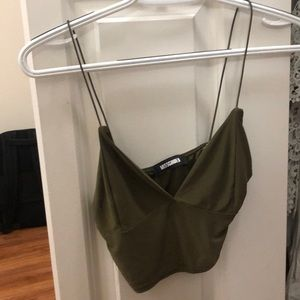 Miss diodes camo green crop top